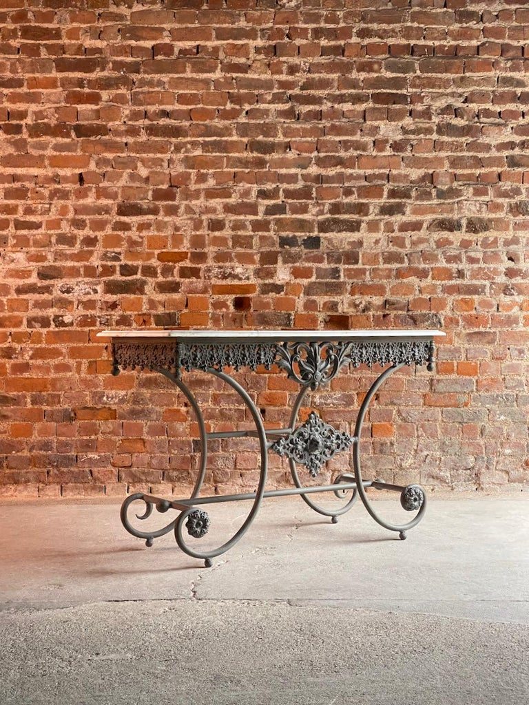 Antique French Boulangerie Pastry Table France, circa 1890  For Sale 8