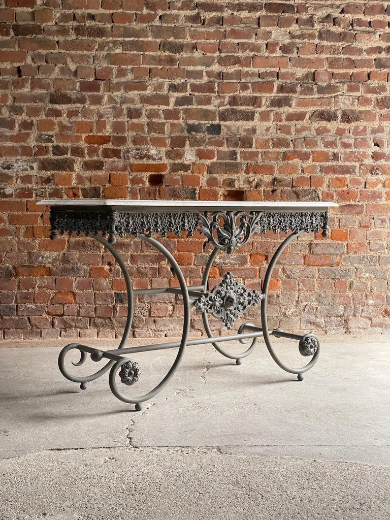 Iron Antique French Boulangerie Pastry Table France, circa 1890  For Sale