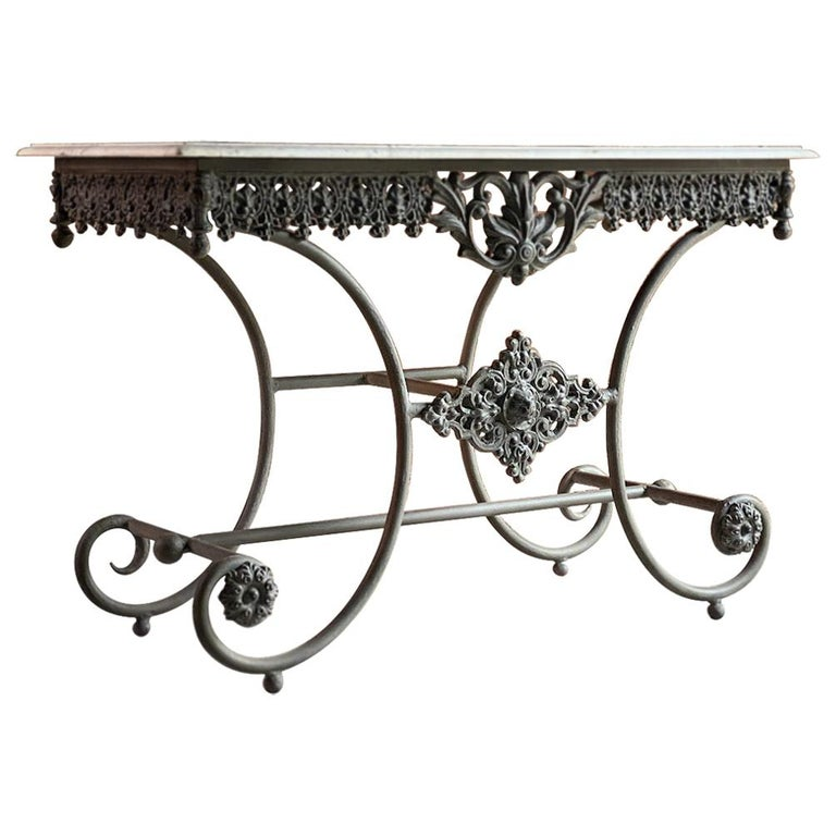 Antique French Boulangerie Pastry Table France, circa 1890  For Sale