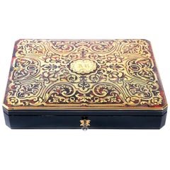 Antique French Boulle Box with Game Elements