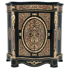 Antique French Boulle Napoleon III Inlaid Cabinet