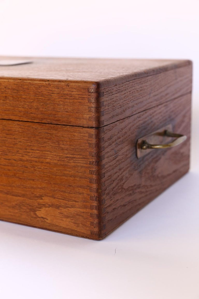 19th Century Antique French Box with Brass Plaque For Sale