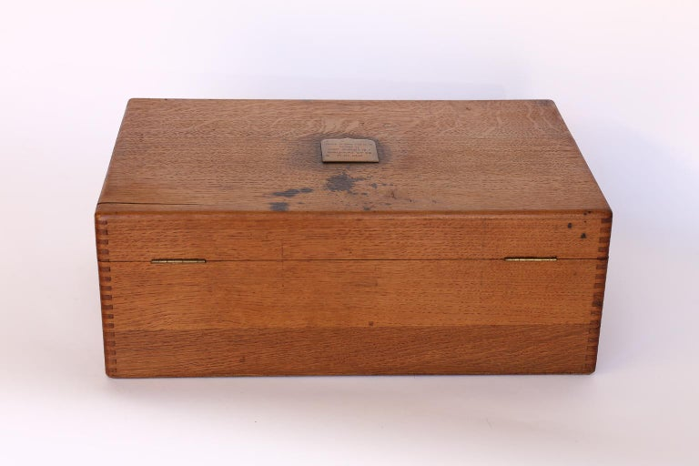 Antique French Box with Brass Plaque For Sale 4