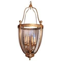 Antique French Bronze 19th Century Lantern