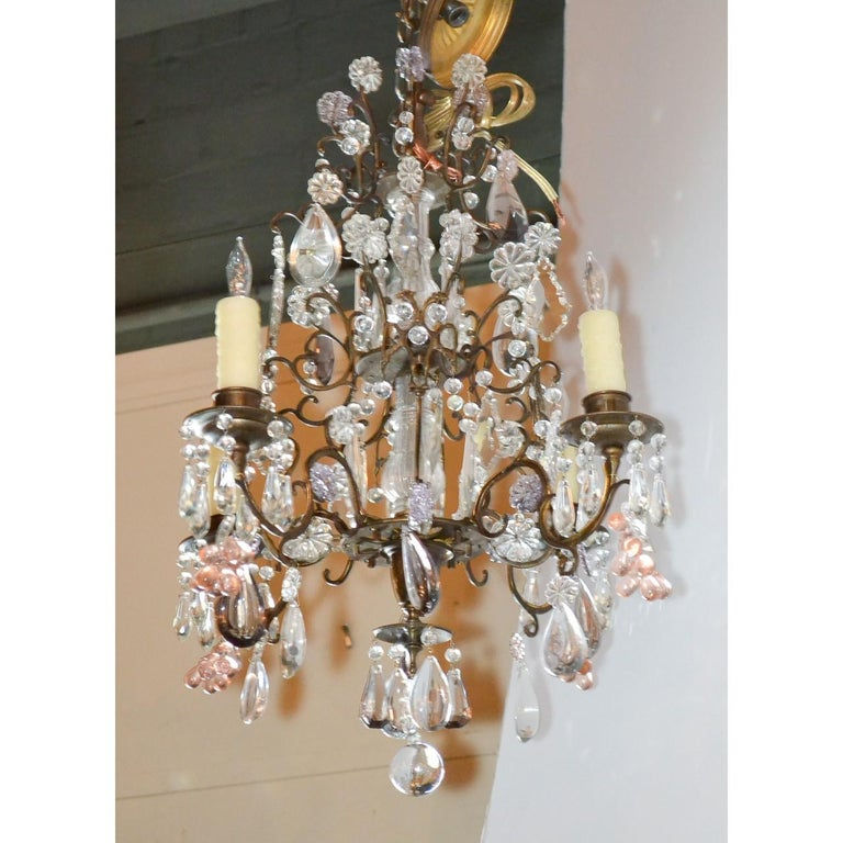 Antique French Bronze and Crystal Chandelier 1