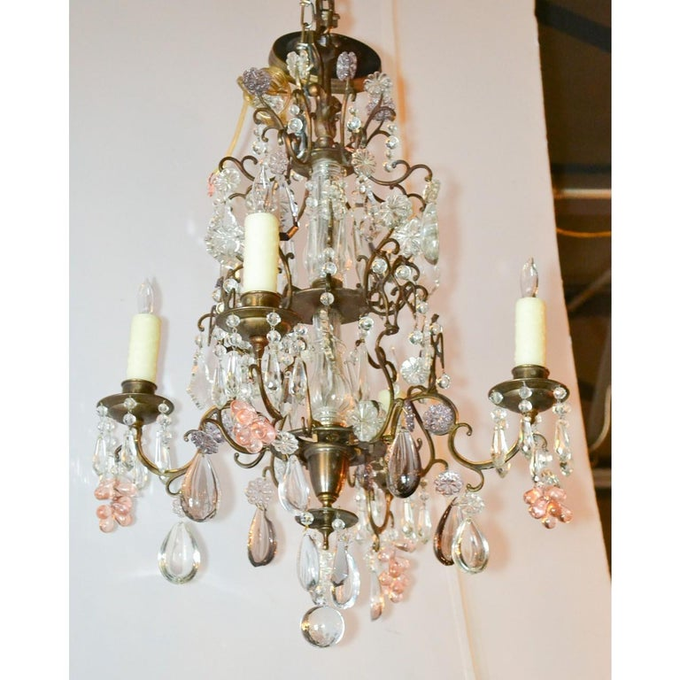 Antique French Bronze and Crystal Chandelier 2