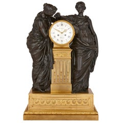 Antique French Bronze and Ormolu Mantel Clock