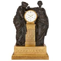 Antique French Bronze and Ormolu Mantel Clock