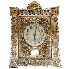 Antique French bronze Chinoiserie desk clock