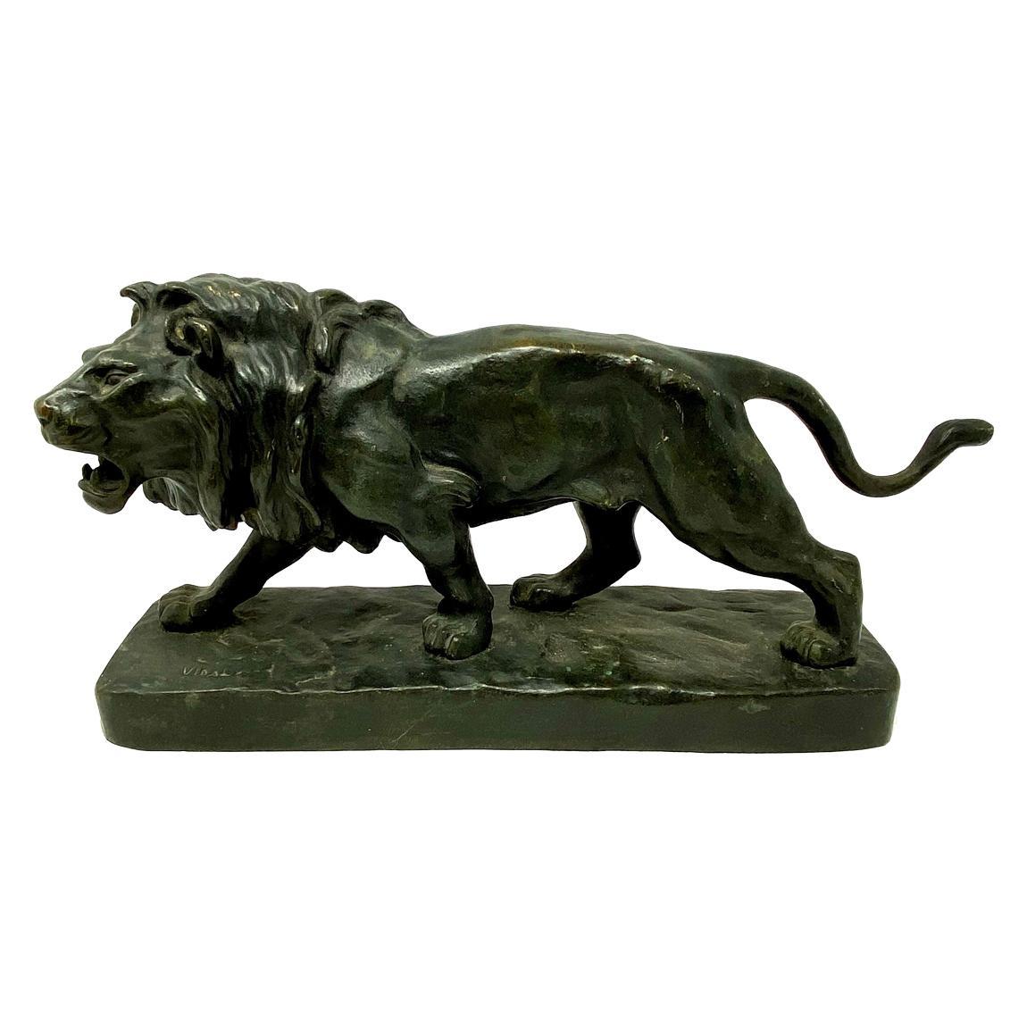 """Antique French Bronze Figural """"Lion"""" Statue, circa 1910-1920"""