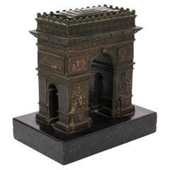 Antique French Bronze Grand Tour Model of the Arc De Triomphe, 19th Century