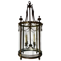 Antique French Bronze Lantern, circa 1880