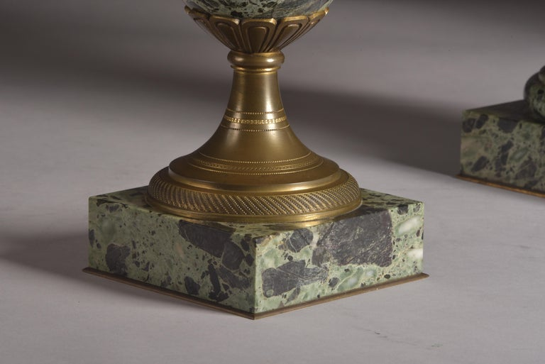 20th Century Antique French Bronze and Marble Cassolettes For Sale