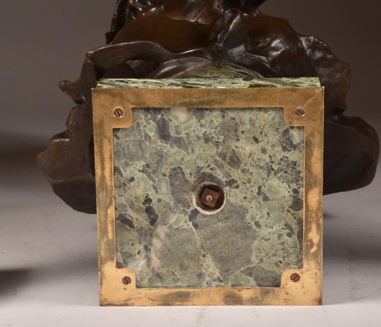 Antique French Bronze and Marble Cassolettes For Sale 1