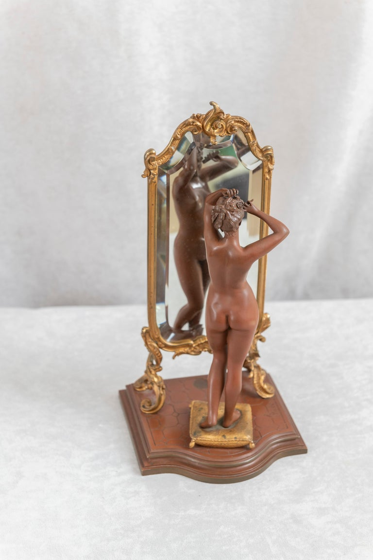 This very wonderful bronze may well be the very best model ever done by the highly regarded French artist Emile Pinedo. Just looking at it one can see what a wonderful little scene we have here. The high detailing, and the rich patina all come