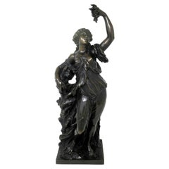 Antique French Bronze Sculpture Allegory of the Vine Claude Clodion Barbedienne