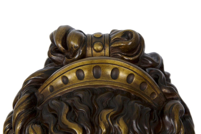Antique French Bronze Sculpture of Female Bust by Eugene Aizelin & F.Barbedienne For Sale 5