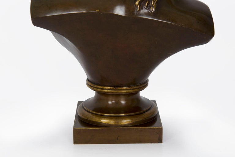 Antique French Bronze Sculpture of Female Bust by Eugene Aizelin & F.Barbedienne For Sale 10
