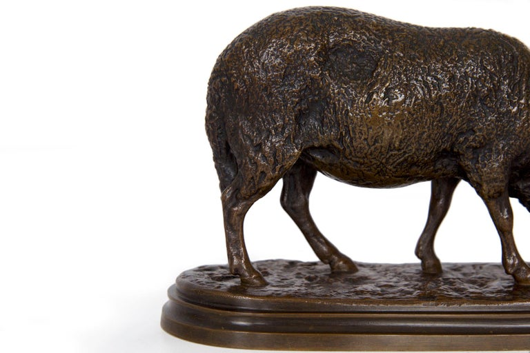 Antique French Bronze Sculpture of Sheep by Rosa Bonheur, 19th Century For Sale 9