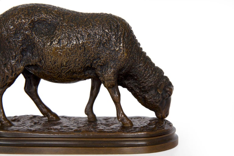 Antique French Bronze Sculpture of Sheep by Rosa Bonheur, 19th Century For Sale 10