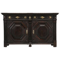 Antique French Buffet from St-Malo, Malouin 'Brittany' Region, Unusual Details