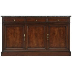 Antique French Buffet, or Sideboard with a Thick Marble Top, circa 1800s