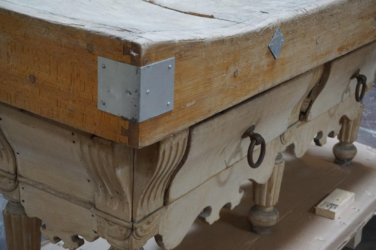 Antique French Butcher Block For Sale At 1stdibs
