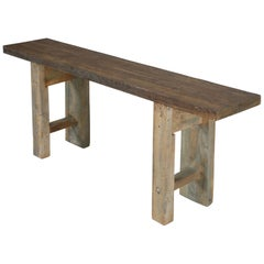 Antique French Carpenter's Work Bench, or Console Table