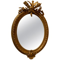 Antique French Carved Gold Leaf Mirror