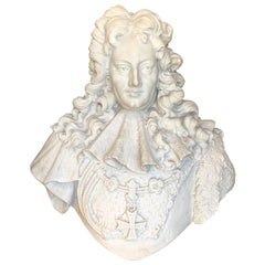 Antique French Carved Marble Bust of a Man