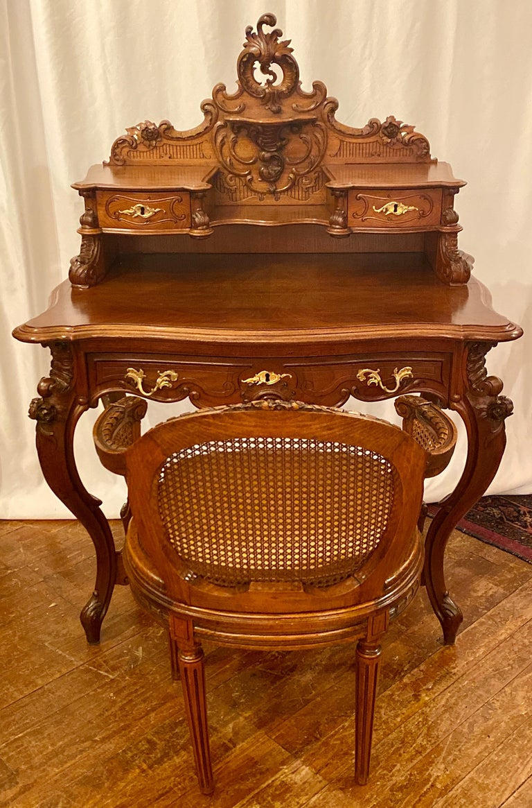 19th Century Antique French Carved Walnut