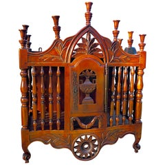 Antique French Carved Walnut Panetiere