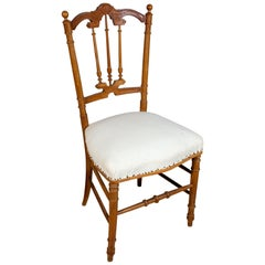 Antique French Carved Wood Dining Chair Pair Available