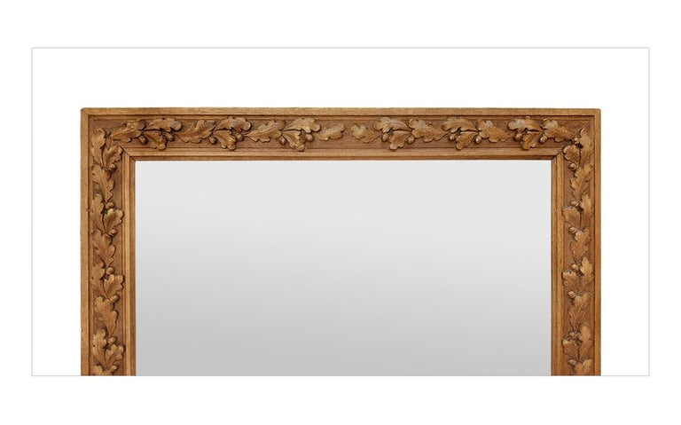 Hand-Carved Antique French Carved Wood Mirror, circa 1930 For Sale