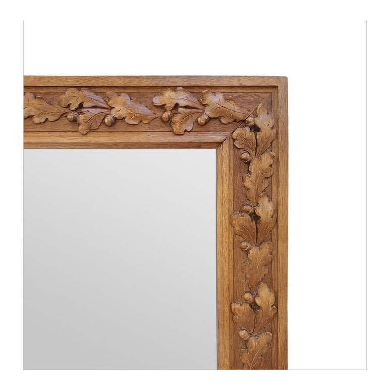 Antique French Carved Wood Mirror, circa 1930 In Good Condition For Sale In Paris, FR