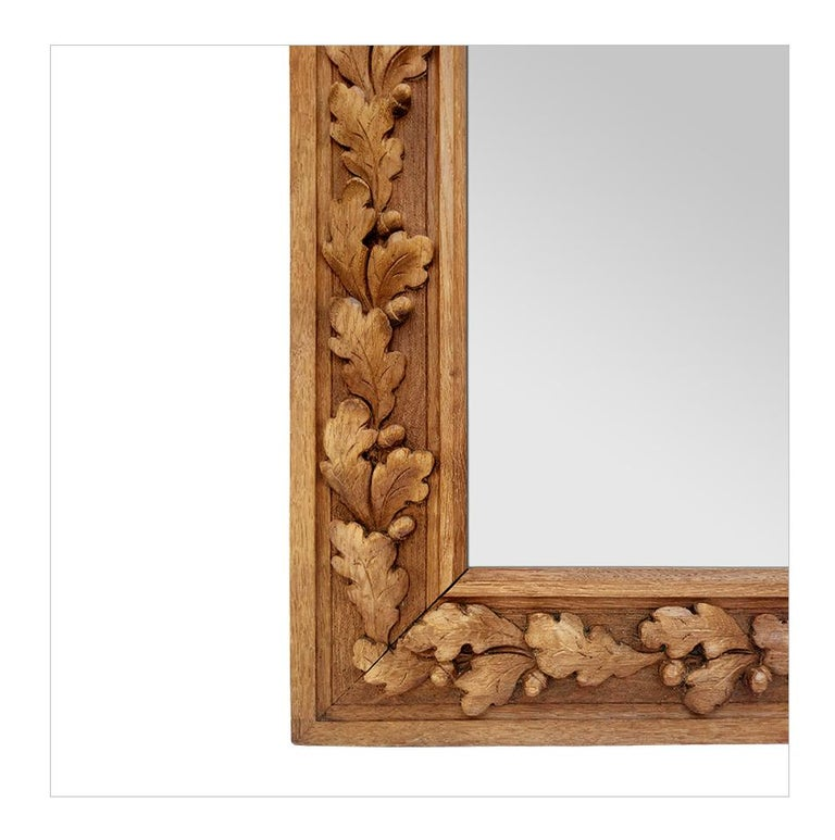 Early 20th Century Antique French Carved Wood Mirror, circa 1930 For Sale