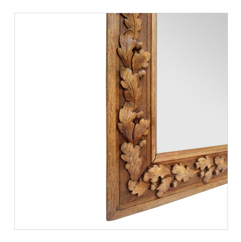 Antique French Carved Wood Mirror, circa 1930 For Sale 1