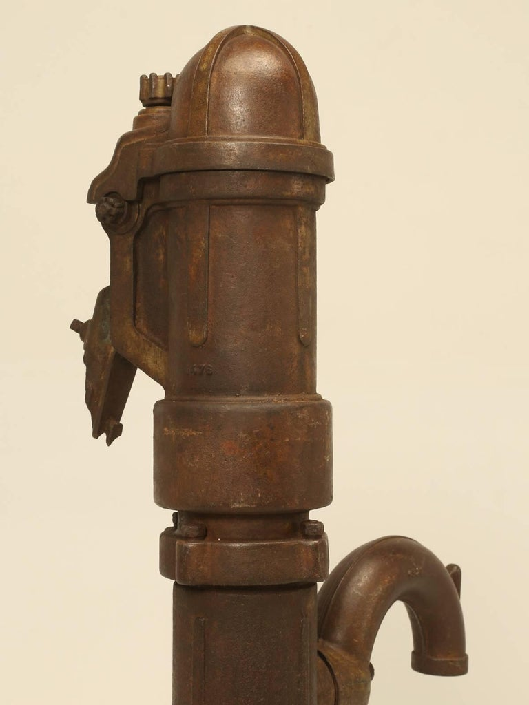 Early 19th Century Antique French Cast Iron Garden Fountain Pump For Sale
