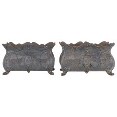 Antique French Cast Iron Planters, a Pair