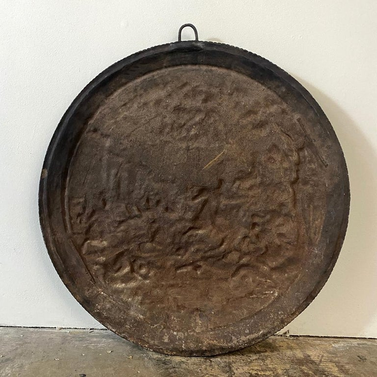 Antique French Cast Iron Wall Plaque For Sale 7