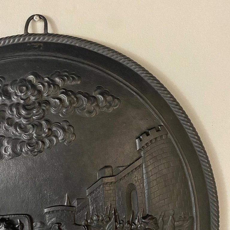Antique French Cast Iron Wall Plaque For Sale 1