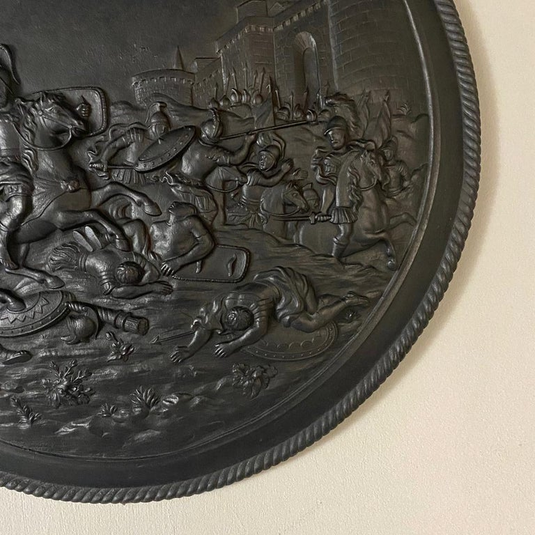 Antique French Cast Iron Wall Plaque For Sale 2