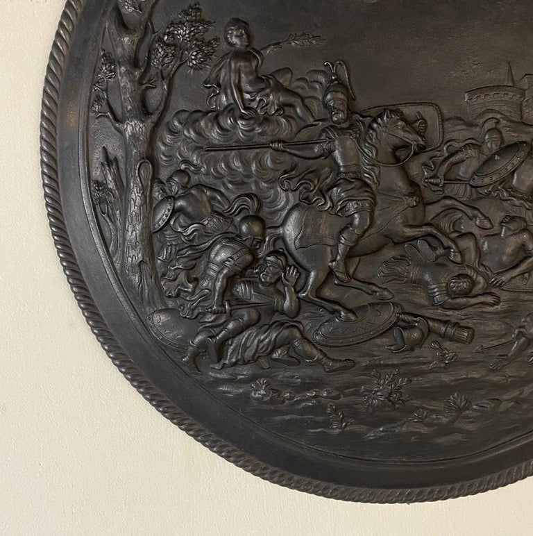 Antique French Cast Iron Wall Plaque For Sale 3