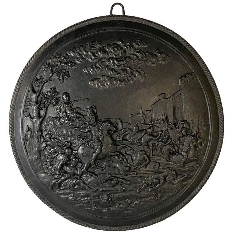 Antique French Cast Iron Wall Plaque For Sale
