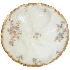 Antique French C.F.H. Haviland Limoges Porcelain Oyster Plate, circa 1880-1890