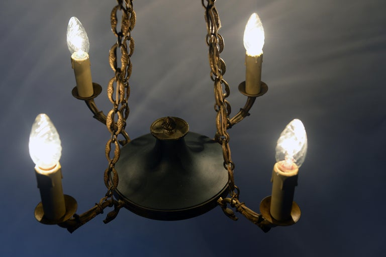 Antique French Chandelier, 1940s For Sale 3