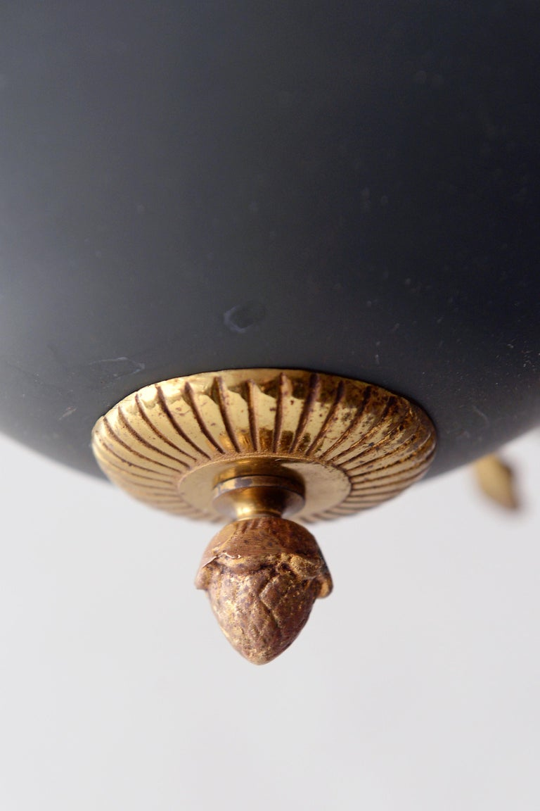 Gilt Antique French Chandelier, 1940s For Sale