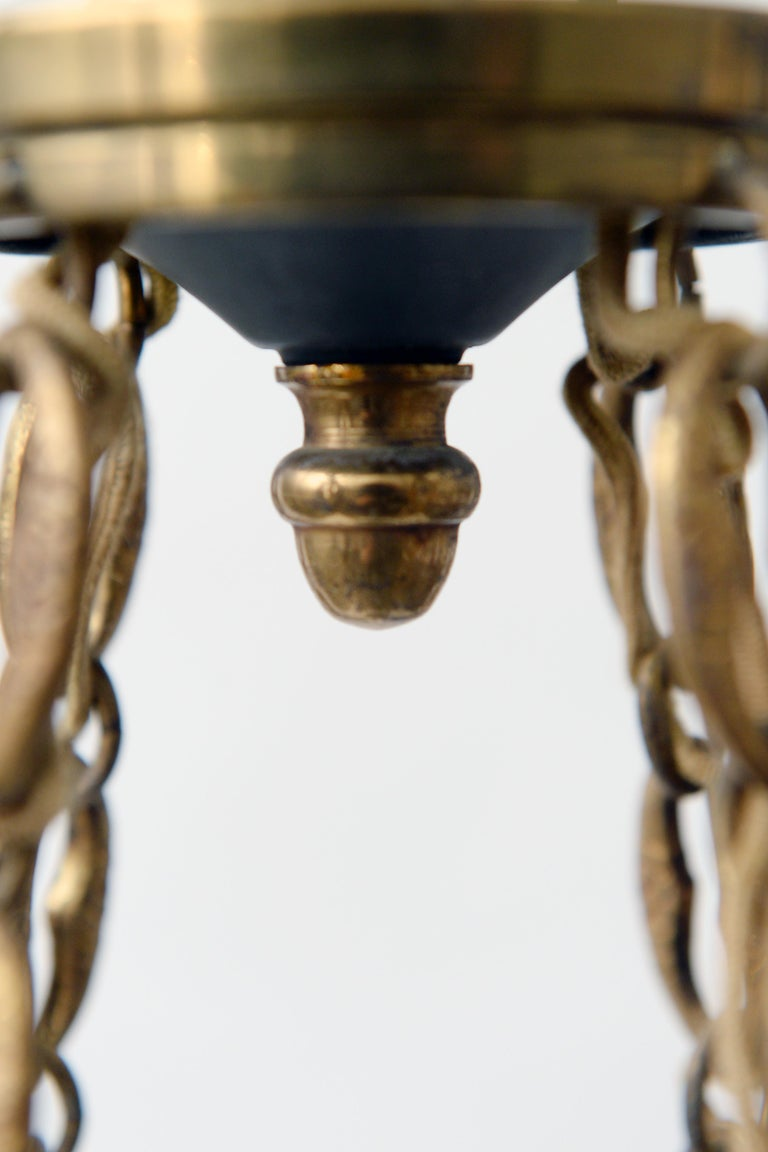 Mid-20th Century Antique French Chandelier, 1940s For Sale