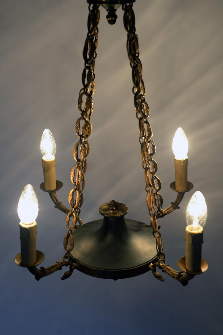 Antique French Chandelier, 1940s For Sale 1