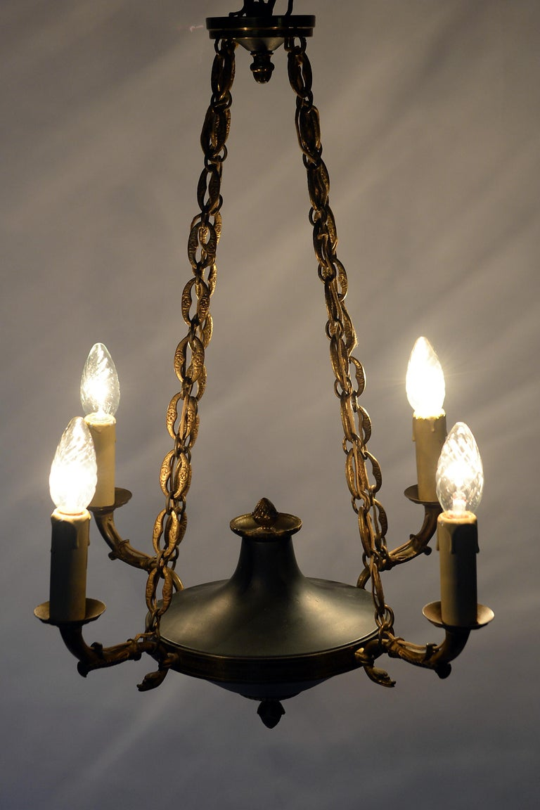 Antique French Chandelier, 1940s For Sale 2